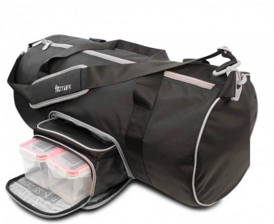 Fitmark Black Transporter Duffel Bag1