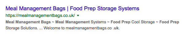 Meal Management Bags - Google Search